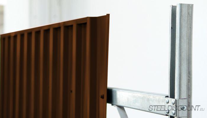 Zaun und Sichtschutz Komplett-Trapezblechsysteme -  Höhe 1,2 Meter - 2,5 Meter